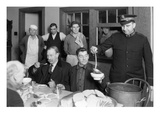 Mealtime at Salvation Army, 1930 Giclee Print by Chapin Bowen