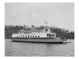 "Gig Harbor Ferry ""Defiance"" (April 1, 1927) Giclee Print by Marvin Boland"
