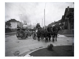 Seattle Fire Department Horse-Drawn Steam Pumper, 1907 Reproduction procédé giclée par Ashael Curtis