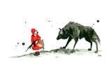 Red Riding Hood Giclee Print by Lora Zombie