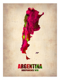 Argentina Watercolor Map Posters by  NaxArt