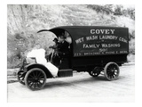 Covey Wet Wash Laundry Co. Inc. Delivery Truck, Seattle, 1913 Giclee Print