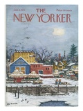 The New Yorker Cover - January 6, 1973 Premium Giclee Print by Albert Hubbell