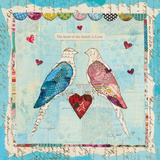 Love Birds Square Poster by Courtney Prahl