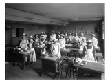 Cooking Class, Seattle, 1909 Giclee Print by Ashael Curtis