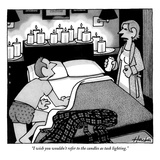 """I wish you wouldn't refer to the candles as task lighting."" - New Yorker Cartoon Premium Giclee Print by William Haefeli"