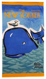 Peter Arno's The New Yorker Whale towel Towel by Peter Arno