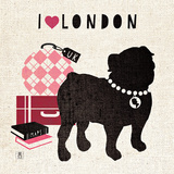 London Pooch Poster by Sarah Mousseau