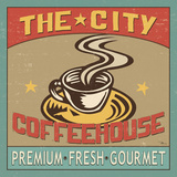 Coffeehouse I Posters by Jess Aiken