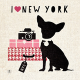 NY Pooch Poster by Sarah Mousseau