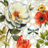 Floral Story II on Grey Poster by Lisa Audit
