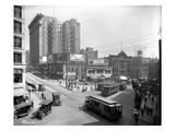 Second Avenue and Yesler Way, Seattle, 1916 Reproduction procédé giclée par Ashael Curtis