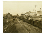 Chicago, Milwaukee, and Puget Sound Railroad Train Depot, Tacoma, WA (May 2, 1912) Giclee Print
