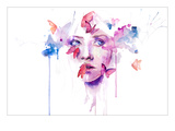 About a New Place Premium Giclee Print by Agnes Cecile