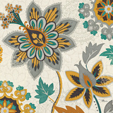 Decorative Nature III Turquoise Cream Prints by  Pela