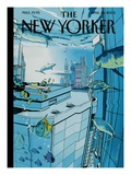 The New Yorker Cover - April 25, 2005 Premium Giclee Print by Istvan Banyai