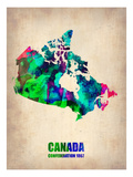 Canada Watercolor Map Posters by  NaxArt