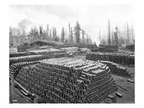 Denny-Renton Clay and Coal Company Yards at Taylor, WA, 1910 Giclee Print by Ashael Curtis
