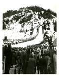 Milwaukee Road Ski Bowl, ca. 1946 Giclée-Druck