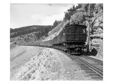 The Olympian, Electric Train in Montana Canyon, 1916 Giclee Print by Ashael Curtis