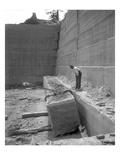 Hercules Stone Co., Hoisting Sandstone Block, ca. 1909 Giclee Print by Ashael Curtis