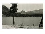 Kloochman Rock and Rimrock Lake, ca. 1950 Giclee Print