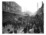 Streetcar Strike, Seattle, 1903 Giclee Print by Ashael Curtis
