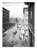 Pike Street from Second Avenue, Seattle, 1908 Giclee Print by Ashael Curtis