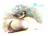Great Tit Giclee Print by Lora Zombie