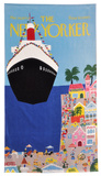 Charles E. Martin's The New Yorker Cruise Towel Towel by Charles Martin
