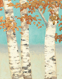 Golden Birches II Prints by James Wiens