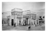 Drawing of Proposed Egyptian Style Facade, Alaska-Yukon-Pacific Exposition, Seattle, 1908 Giclee Print by Ashael Curtis