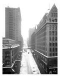 Cherry Street under Snow, Seattle, 1916 Giclee Print