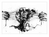 Drawing Restraints Giclee-tryk i høj kvalitet af Agnes Cecile