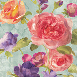 Watercolor Floral I on Grey Prints by Danhui Nai