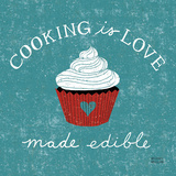 Cooking is Love Kunstdruck von Michael Mullan