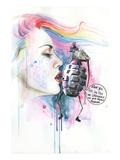 Mr Grenade Kunstdrucke von Lora Zombie