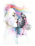Mr Grenade Giclee Print by Lora Zombie