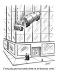 """I'm really upset about the font on my business cards."" - New Yorker Cartoon Premium Giclee Print by Tom Cheney"