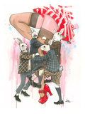 Playboys Giclee Print by Lora Zombie