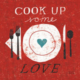 Cook Up Love Affischer av Michael Mullan