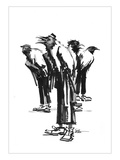 Band of Crows Reproduction procédé giclée par Lora Zombie