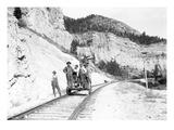 Deer Park Hand Car Crew, Montana, ca. 1912 Giclee Print by Ashael Curtis