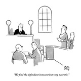 """""""We nd the defendant innocent but very neurotic."""" - New Yorker Cartoon Giclee Print by Chon Day"""
