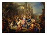 The Raising of Lazarus Reproduction procédé giclée par Frans Christoph Janneck