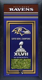 Baltimore Ravens Super Bowl XLVII Champions Banner with Game-Used Turf Framed Memorabilia