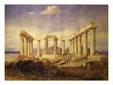 Temple of Aphaia, Aegina, Built C. 500 Bc, Watercolour, C.1805 Giclee Print by Edward Dodwell