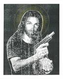 Jesus Gun Sérigraphie par  Print Mafia