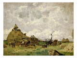 La Batteuse (The Threshing Machine) Giclee Print by Edmond Charles Yon
