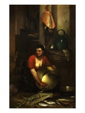Intérieur De Cuisine (Interior of Kitchen) Giclee Print by Antoine Vollon